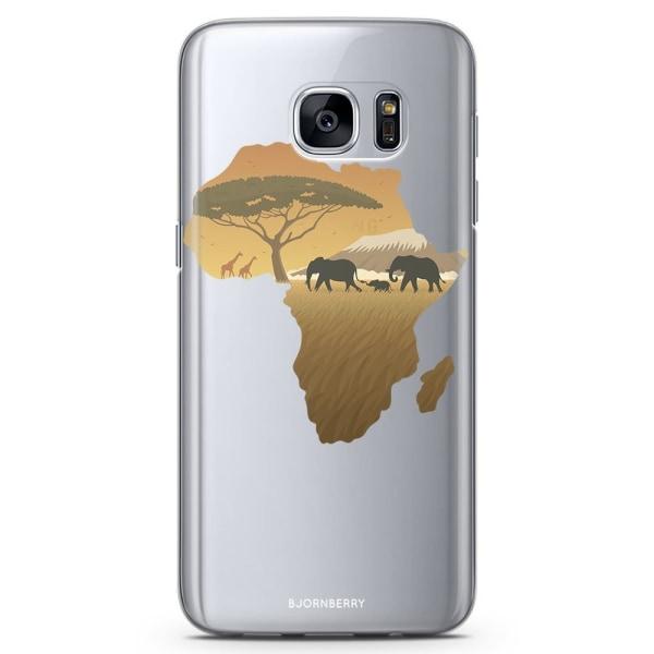 Bjornberry Samsung Galaxy S6 Edge TPU Skal -Afrika Brun