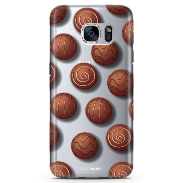 Bjornberry Samsung Galaxy S6 Edge TPU Skal -Choklad