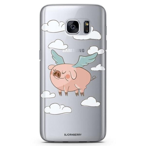 Bjornberry Samsung Galaxy S6 Edge TPU Skal -Flygande Gris