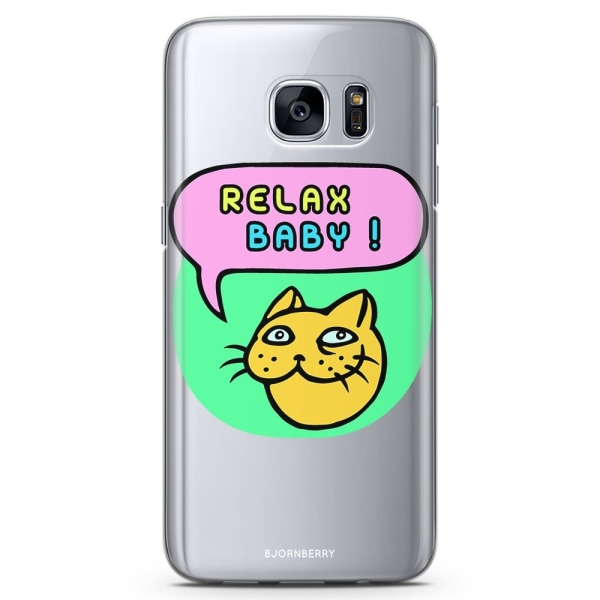 Bjornberry Samsung Galaxy S6 TPU Skal - Relax baby