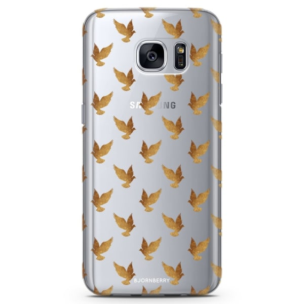 Bjornberry Samsung Galaxy S7 Edge TPU Skal -Guld Duvor