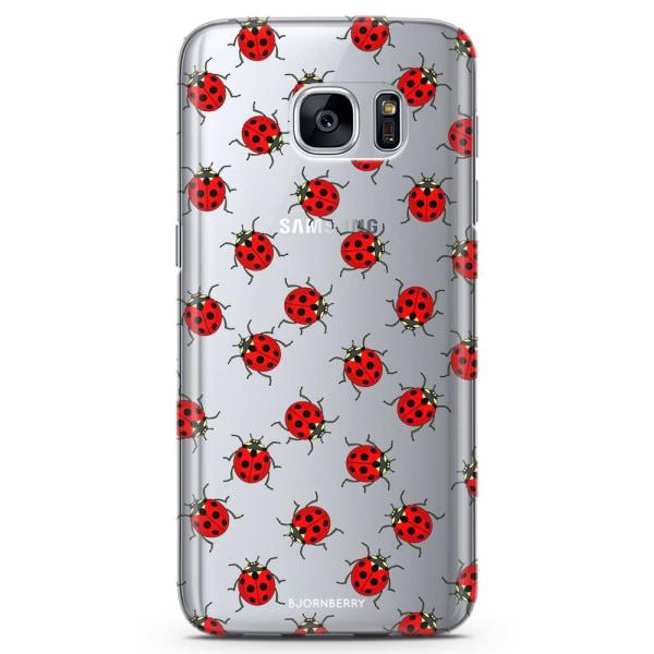 Bjornberry Samsung Galaxy S7 Edge TPU Skal -Nyckelpigor