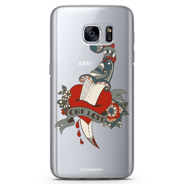 Bjornberry Samsung Galaxy S7 Edge TPU Skal -One Love