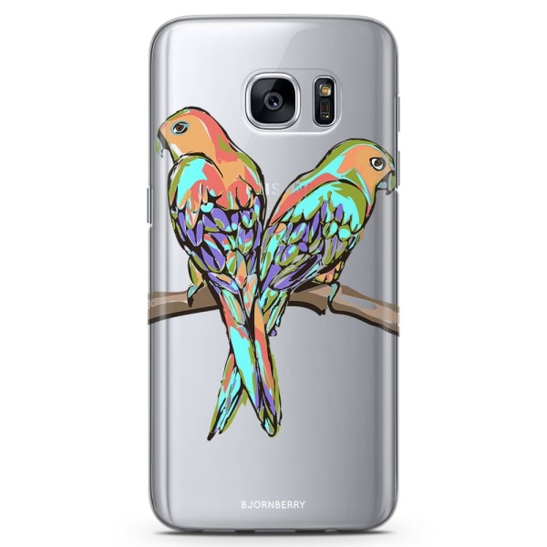 Bjornberry Samsung Galaxy S7 Edge TPU Skal -Papegojor
