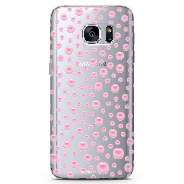 Bjornberry Samsung Galaxy S7 Edge TPU Skal -Rosa Pärlor