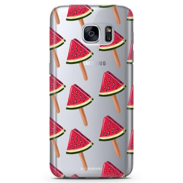 Bjornberry Samsung Galaxy S7 Edge TPU Skal -Vattenmelonglassar
