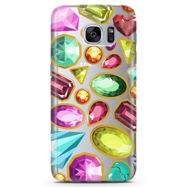 Bjornberry Samsung Galaxy S7 TPU Skal - Diamanter