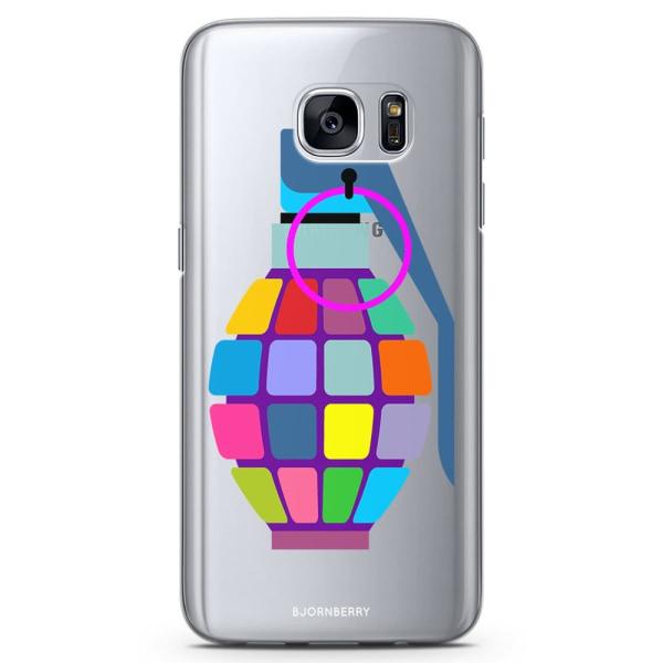 Bjornberry Samsung Galaxy S7 TPU Skal - Färg Handgranat