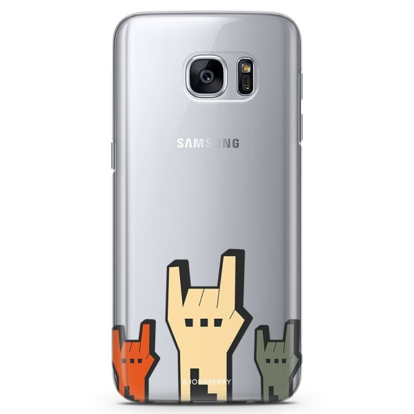Bjornberry Samsung Galaxy S7 TPU Skal - Rock Händer