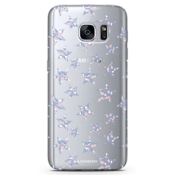 Bjornberry Samsung Galaxy S7 TPU Skal - Rosenkvarts Stjärnor