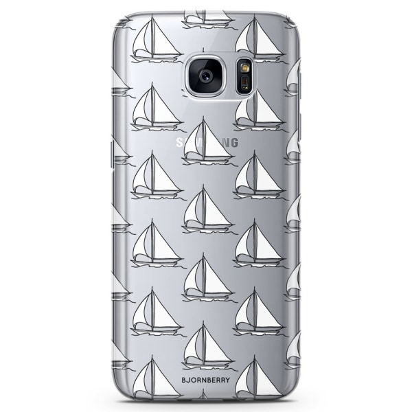 Bjornberry Samsung Galaxy S7 TPU Skal - Segelbåtar