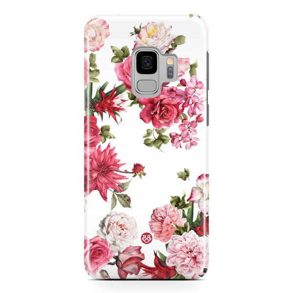 Bjornberry Samsung Galaxy S9 Premium Skal - White Roses