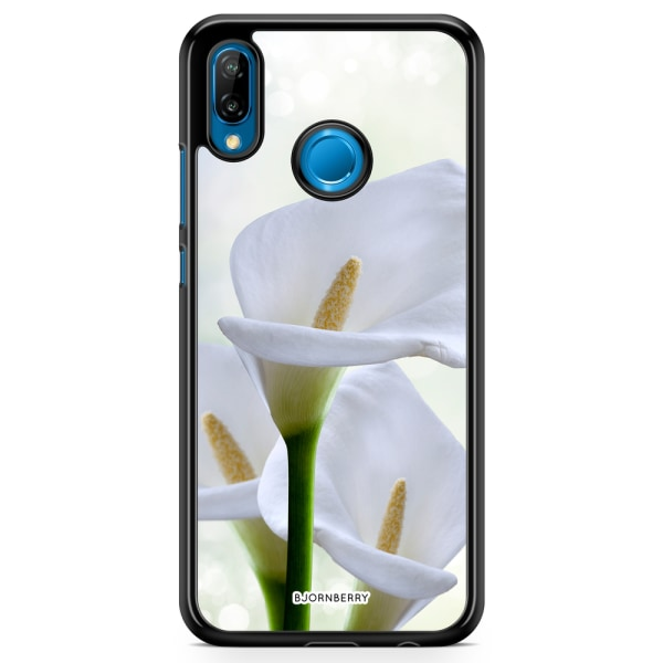 Bjornberry Skal Huawei P20 Lite - Vit Blomma