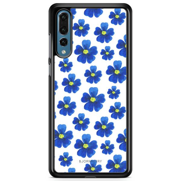 Bjornberry Skal Huawei P20 Pro - Blå Blommor