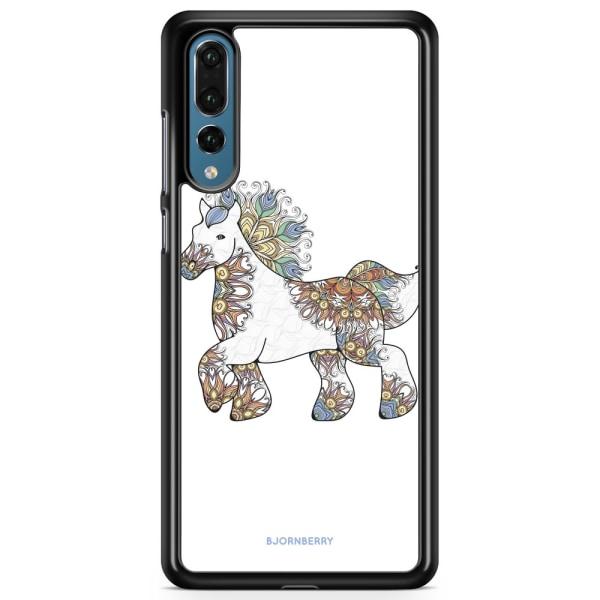 Bjornberry Skal Huawei P20 Pro - Blommig Enhörning