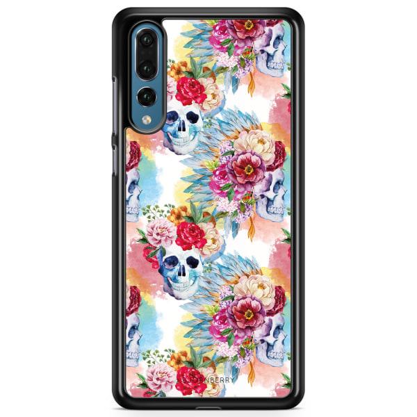 Bjornberry Skal Huawei P20 Pro - Dödskallar & Blommor