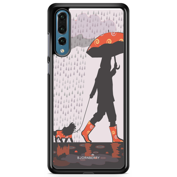 Bjornberry Skal Huawei P20 Pro - Promenad i Regnet