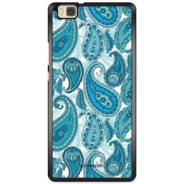 Bjornberry Skal Huawei P8 Lite - Blå Paisley