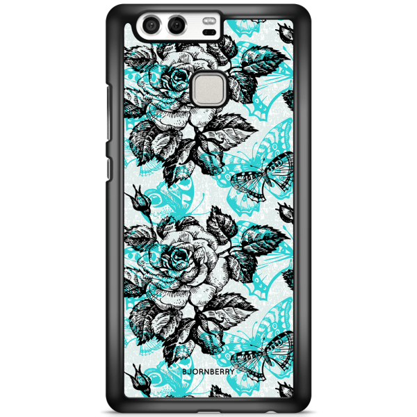 Bjornberry Skal Huawei P9 - Fjärilar & Rosor