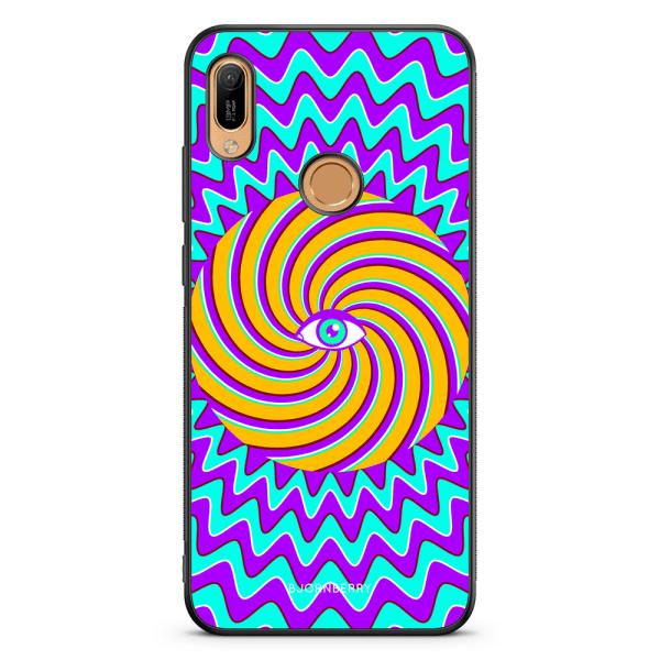Bjornberry Skal Huawei Y6 2019 - Färgglad Hypnotisk