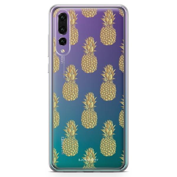 Bjornberry Skal Hybrid Huawei P20 Pro - Guldiga Ananas