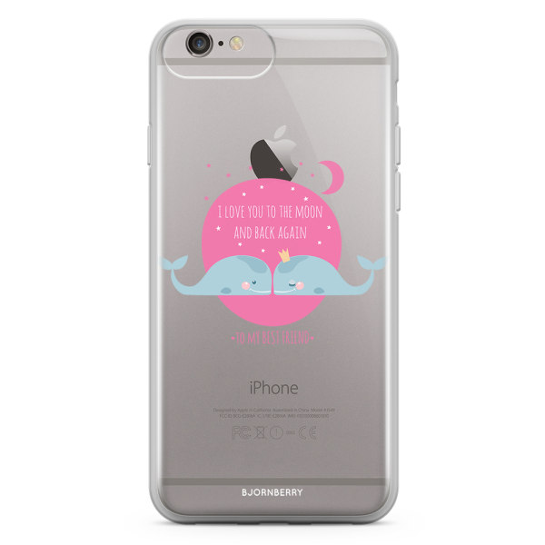 Bjornberry Skal Hybrid iPhone 6/6s Plus - Love You To The Moon