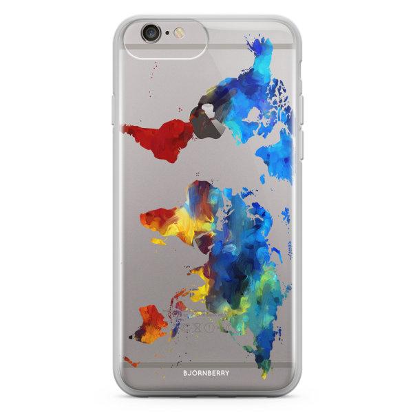 Bjornberry Skal Hybrid iPhone 6/6s Plus - Världskarta