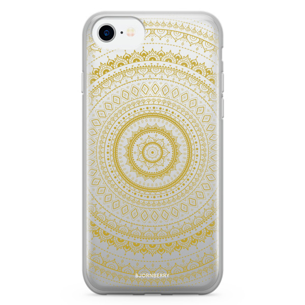 Bjornberry Skal Hybrid iPhone 7 - Guld Mandala