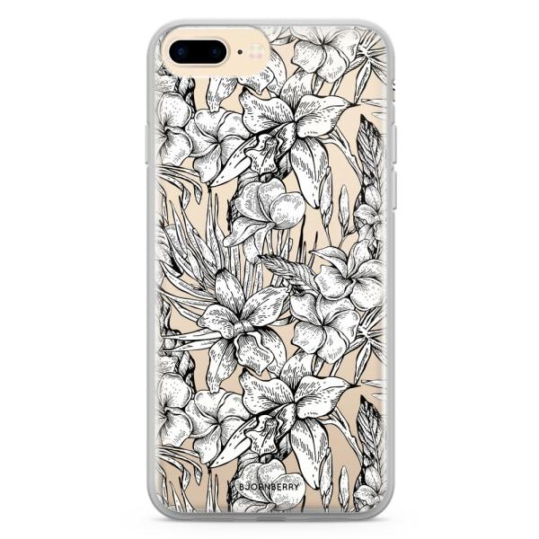 Bjornberry Skal Hybrid iPhone 7 Plus - Exotiska Blommor