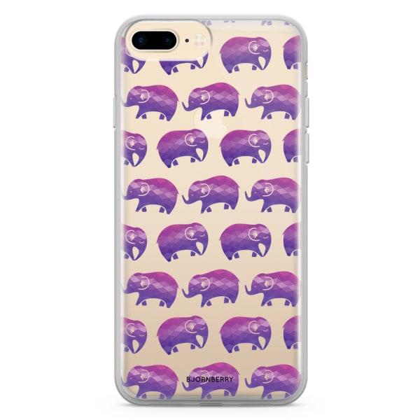 Bjornberry Skal Hybrid iPhone 7 Plus - Lila Elefanter