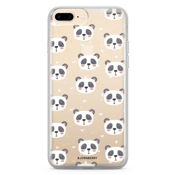 Bjornberry Skal Hybrid iPhone 7 Plus - Pandamönster