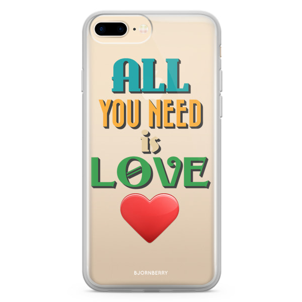 Bjornberry Skal Hybrid iPhone 8 Plus - All You Need Is Love
