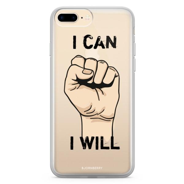 Bjornberry Skal Hybrid iPhone 8 Plus - I CAN I WILL