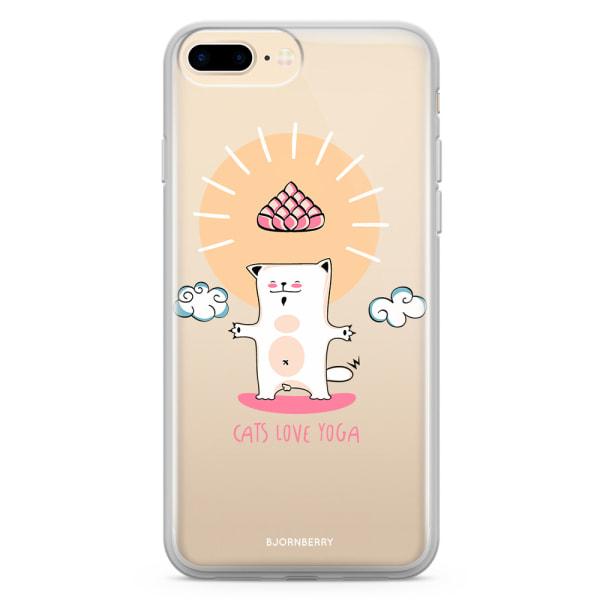 Bjornberry Skal Hybrid iPhone 8 Plus - Yoga cat