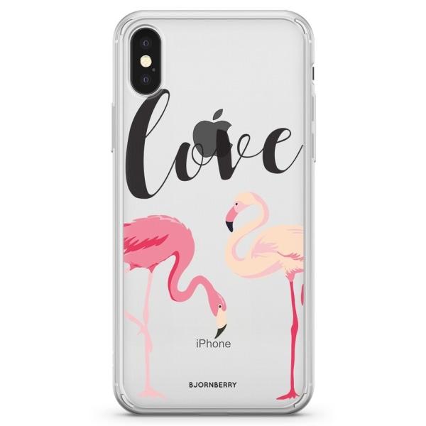 Bjornberry Skal Hybrid iPhone X / XS - Love Flamingo