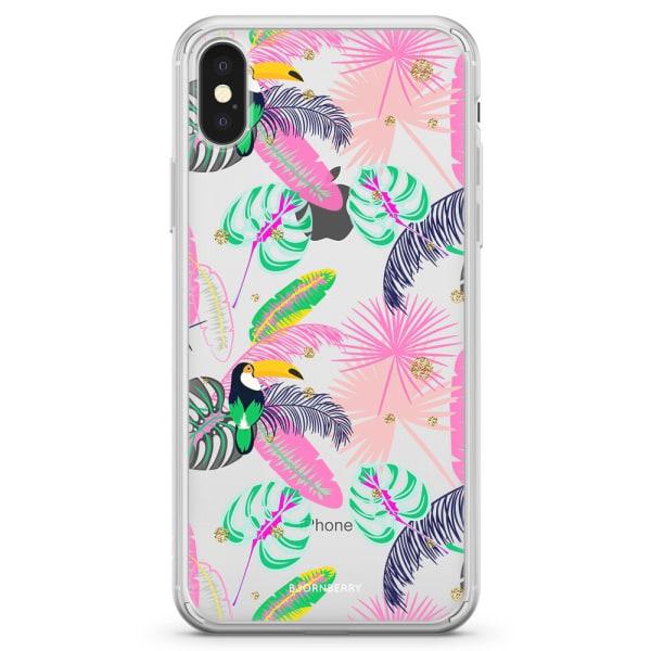 Bjornberry Skal Hybrid iPhone X / XS - Tropical Pattern