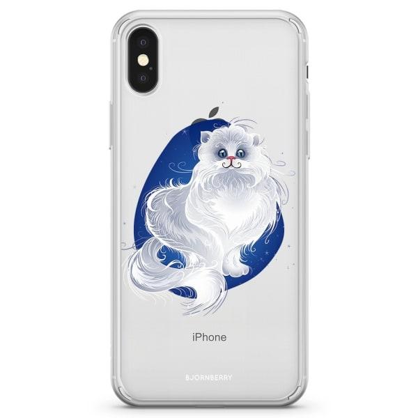 Bjornberry Skal Hybrid iPhone X / XS - Vit Katt