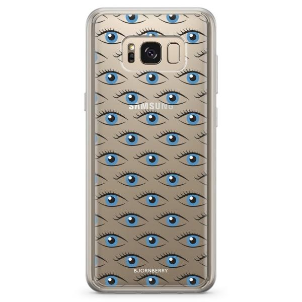 Bjornberry Skal Hybrid Samsung Galaxy S8+ - Blå Ögon