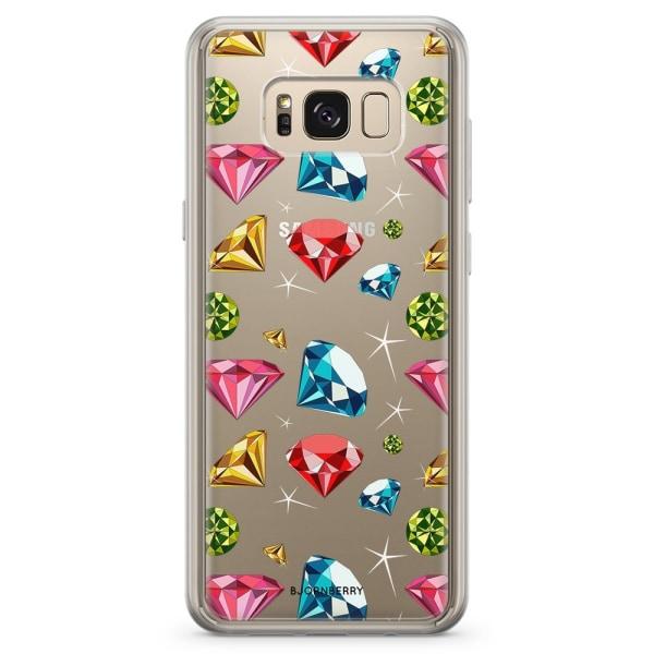 Bjornberry Skal Hybrid Samsung Galaxy S8+ - Diamanter