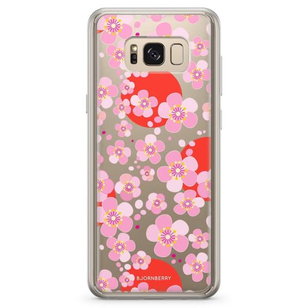 Bjornberry Skal Hybrid Samsung Galaxy S8+ - Japanska Blommor