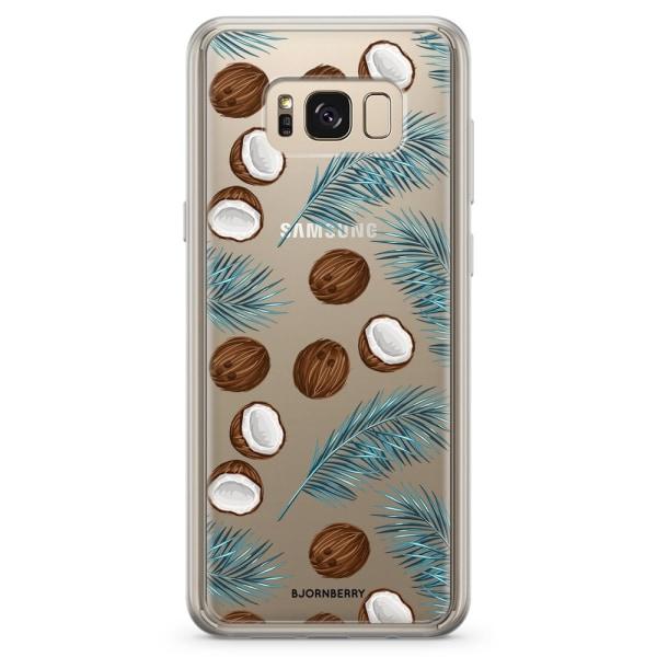 Bjornberry Skal Hybrid Samsung Galaxy S8+ - Kokos & Palmblad
