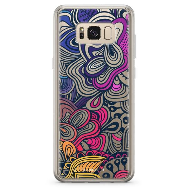 Bjornberry Skal Hybrid Samsung Galaxy S8+ - Retro Blommor