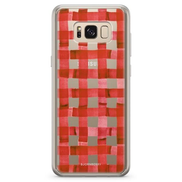 Bjornberry Skal Hybrid Samsung Galaxy S8+ - Röda Ränder