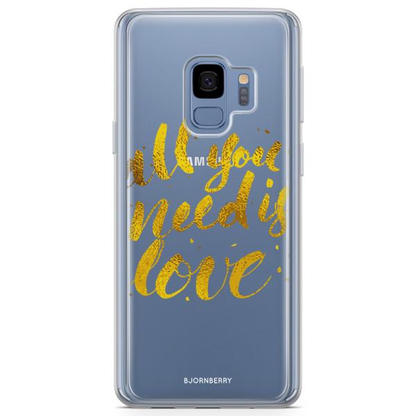 Bjornberry Skal Hybrid Samsung Galaxy S9 - All you need is love