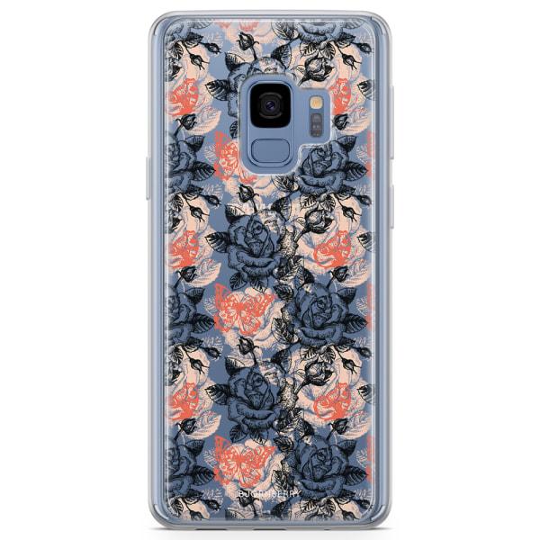 Bjornberry Skal Hybrid Samsung Galaxy S9 - Fjärilar & Rosor