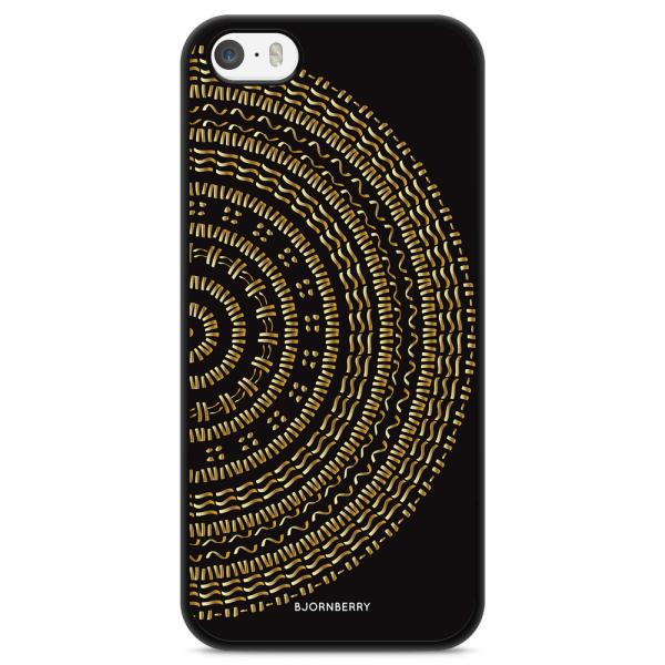 Bjornberry Skal iPhone 5/5s/SE - Mandala Guld/Svart