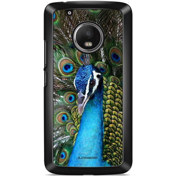 Bjornberry Skal Moto G5 Plus - Påfågel