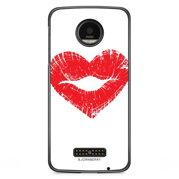 Bjornberry Skal Moto Z2 Play - Hjärta Läppar