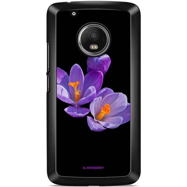 Bjornberry Skal Motorola/Lenovo Moto G5 - Lila Blommor