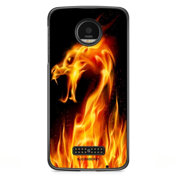 Bjornberry Skal Motorola Moto Z - Flames Dragon